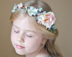 flower girl crown purple flower girl headband by thehoneycomb