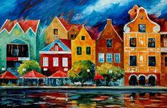 RIVERFRONT - PALETTE KNIFE Oil Painting On Canvas By Leonid Afremov http://afremov.com/RIVERFRONT-PALETTE-KNIFE-Oil-Painting-On-Canvas-By-Leonid-Afremov-Size-24-x36.html?bid=1&partner=20921&utm_medium=/vpin&utm_campaign=v-ADD-YOUR&utm_source=s-vpin