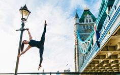 These action shots showing talented athletes practising yoga poses in iconic   city locations were taken by photographer Kristina Kashtanova at urban   street locations in the UK and New York. The talented yogis are seen   striking mind-boggling poses in the most unusual settings.