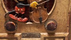 Emerson - Radio Mickey Musicien 411 - Bois Clair et Personnage Peint - 1934