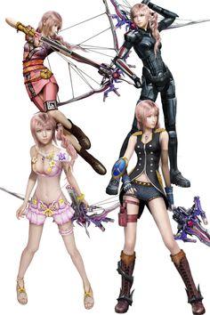 Serah Farron - Final Fantasy XIII-2 alternate costumes