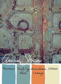 Annie Sloan Chalk Paint Palette-like the color combo for a bedroom. Annie Sloan Chalk Paint Palette, Chalk Paint Colors, Annie Sloan Paints, Chalk Painting, Chalk Paint Projects, Chalk Paint Furniture, Hand Painted Furniture, Couleurs Annie Sloan, Annie Sloan Farbe
