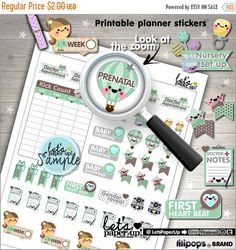 60%OFF - Pregnancy Stickers, Printable Planner Stickers, Maternity Stickers, Kawaii Stickers, New Baby Stickers, Planner Accessories, Baby,