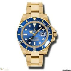 Rolex Oyster Perpetual Submariner Date 18K Yellow Gold Men`s Watch Model No. 116618-bld