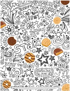 Girl Scout Cookie Coloring Sheet- free download