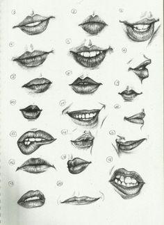 Karakalem Dudak Çizimleri, karakalem dudak nasıl çizilir, karakalem dudak çizimleri örnek resimleri, karakalem dudak çizimleri