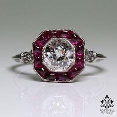 rubies.work/… Antique Art Deco Platinum Diamond