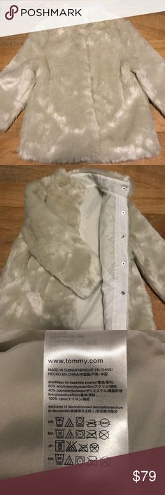NWT Tommy Hilfiger Girls Faux Fur Coat NWT! Never worn - Tommy Hilfiger Girls Faux Fur Coat Perfect for cool & cold months! Easy to dress up and down 💕 Tommy Hilfiger Jackets & Coats