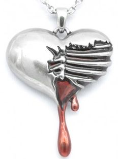 """""""Bleeding Heart"""" Necklace by Controse - 1"""