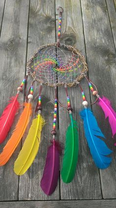 Rainbow Dream catcher Willow Branch Dream by TheEarthDragonsCave