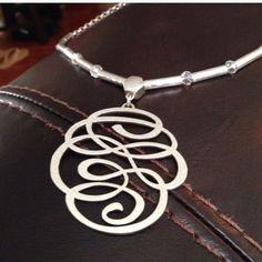 Brighton necklace Silver Brighton script necklace Brighton Accessories