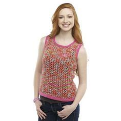 Colorful Summer Days Knit Tank Top - why would ANYONE want a tank top made from worsted weight yarn? I like this style but will have to modify the pattern to accommodate a yarn weight that's reasonable!!