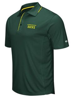 Shop Oregon Ducks Colosseum Green Polyester Performance Short Sleeve Golf Polo Shirt