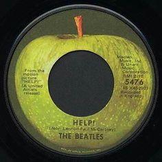Apple A-side design, from 1968 through the 45 Records, Vinyl Records, Rock N Roll Music, Rock And Roll, Good Ol Times, The Beatles Help, Apple Records, Beatles Albums, 60s Music