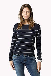 Jersey Cuello Barco A Rayas es lo más destacado de la temporada: recién llegado de la colección de jerséis para mujer de Tommy Hilfiger. Devolución gratuita.