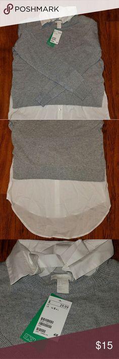 H&M Brand New Long Sleeve Sweater Shirt Brand new H&M long sleeve shirt very nice for covering the back size Small H&M Tops Sweatshirts & Hoodies