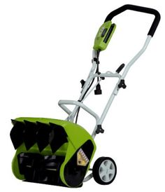 GreenWorks 16 in. 10 Amp Electric Snow Thrower - Snow shoveling just got a whole lot easier with the GreenWorks 16 in. 10 Amp Electric Snow Thrower on your side. Boasting a 10 amp motor, 16 in. Electric Snow Shovel, Electric Snow Blower, Best Electric Scooter, Electric Power, Snow Shovel With Wheels, Shoveling Snow, Yard Maintenance, Snow Plow, Lawn Mower