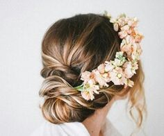 ♡Bun + Flower Headcrown♡