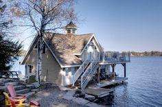 Lake Muskoka Cottage traditional exterior   @TheDailyBasics ♥♥♥