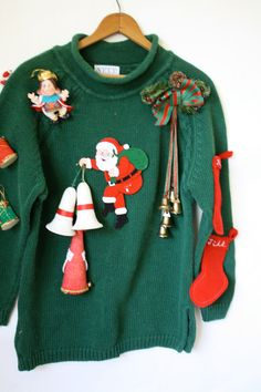 Ugly Christmas Sweater / Vintage Sweater / by WindingRoadVintage
