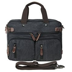 Beautiful Riavika Oversized Laptop Backpack Briefcase Convertible Messenger  Bag Travel Backpack Daypack Rucksack for 15.6-17 Inch ... 231140e83a