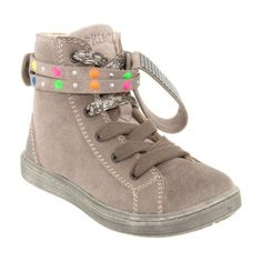 Primigi trendy ankle boots Kids Winter Fashion, Winter Kids, Kids Fashion, Grey Leather, Leather Ankle Boots, Childrens Shoes, Velcro Straps, Girls Shoes, High Top Sneakers
