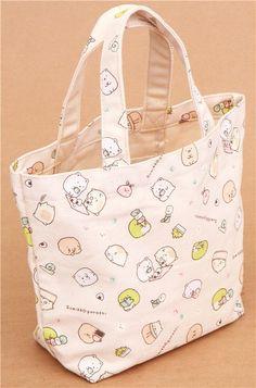 Sumikkogurashi shy animals canvas linen handbag - Handbags - Bags - Accessories - kawaii shop modeS4u