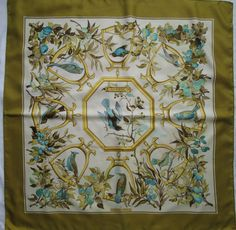 "Superbe Foulard Hermès "" Ramage "" Soie T BEG Vintage Scarf   eBay"