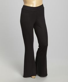 Another great find on #zulily! Black Flare Pants - Plus #zulilyfinds