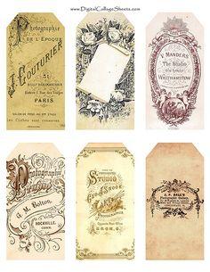 Printable collage tags~!