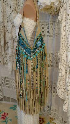 Final Payment Custom for Gina Tan Suede Fringe Shoulder Bag Hippie Purse tmyers #Handmade #ShoulderBag