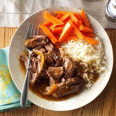 Soy-Ginger Pot Roast Recipe -My husband really likes roast beef, and I really like my slow cooker. I brought in Asian influences for an all-day pot roast with some oomph. —Lisa Varner, El Paso, Texas