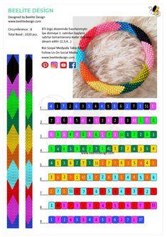 Bead Crochet Rope Free Pattern  Bead Crochet Patterns, Bead Crochet Rope, Peyote Patterns, Bracelet Patterns, Beading Patterns, Collar Redondo, Beadwork Designs, Peyote Beading, Bead Crafts