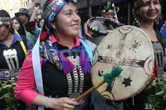 images Chilean indigenous children | March for Indigenous peoples in Santiago | Demotix.com