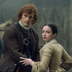 """italianoutlanders: """" New #Outlander S2 still with #SamHeughan and #LauraDonnelly…"""