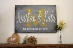 Personalized Name Sign Custom Name Sign Family by RusticlyInspired