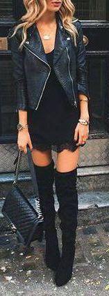 #fall #fashion / all black everything