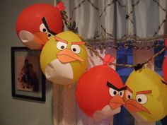 Lazy Mama Designs: Angry Birds party prep