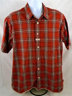 Tommy Jeans Men's Size Large 100% Cotton Short Sleeve Plaid Shirt #TommyHilfiger #ButtonFront