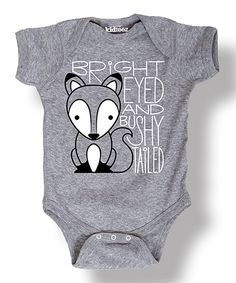 Look at this Heather Gray 'Bushy Tailed' Fox Bodysuit - Infant on #zulily today!