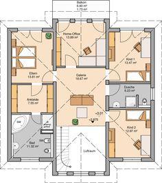 Kern-Haus Stadtvilla Karat Grundriss Obergeschoss