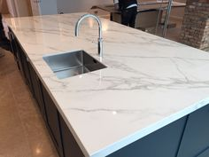 The Marble Group think that Neolith is one of the most aesthetically pleasing brands of kitchen worktops. Made from Ultra-Sintered technology, commonly called ceramics, Neolith is extremely durable and the Calacatta version is very natural looking marble replica.