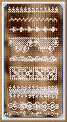 Cross Stitch lace sampler. One