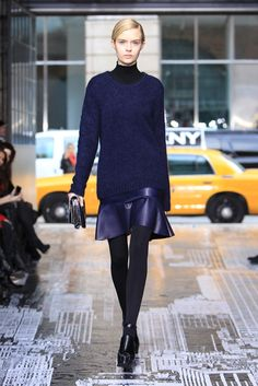 Cozy Knit + Leather at DKNY RTW Fall 2012