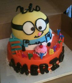 Despicable Me Kid's Cake-Trifles
