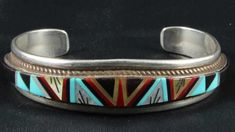 George Francis Native American inlay jewelry Zuni marks - YouTube