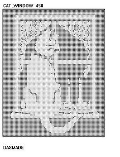 4 Cat Filet Crochet Doily Afghan Patterns Wallhangings
