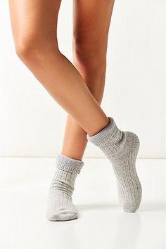 Chaussettes en maille côtelée confortables - Urban Outfitters
