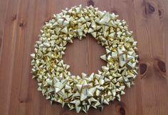 DIY bow wreath by Misty Spinney, Brit + Co.