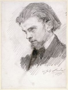 Henri Fantin-Latour (French, 1836-1904), Self-portrait, 1859. Pencil on paper, 14.4 x 10.9 cm. Fitzwilliam Museum, University of Cambridge.